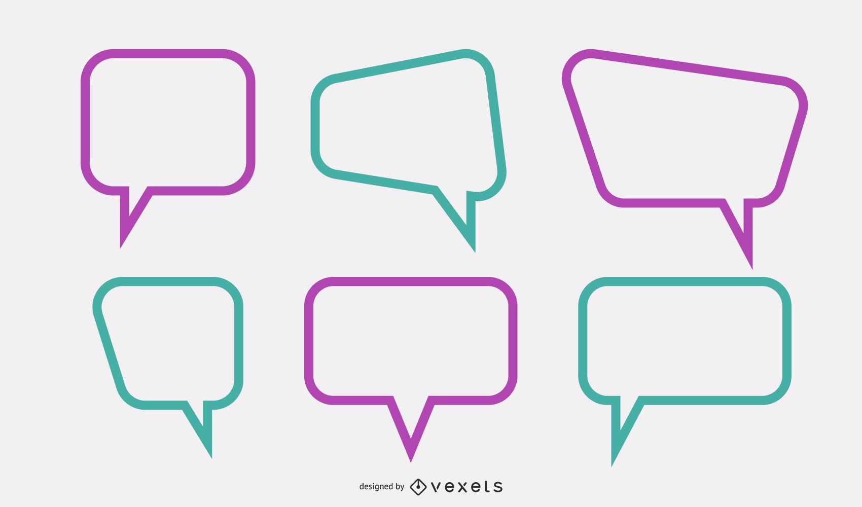 Vector de cuadro de diálogo de texto