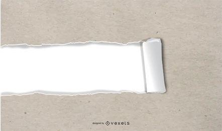 Efecto de diseño de papel rasgado