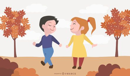 Autumn Child Vector Design