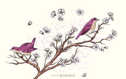 Cute Birds Vector 4