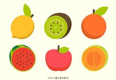 Serie de frutas vector