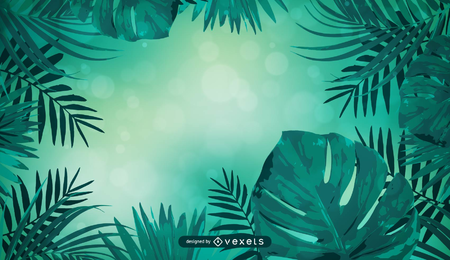 Fondo verde tropical de la naturaleza