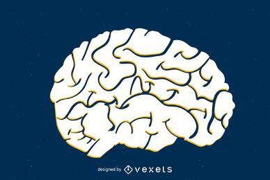 Gehirn-Vektor
