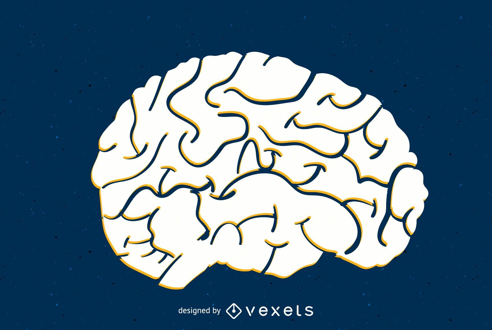 Vector de cerebro