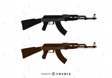 Ak47 Machine Gun Vector