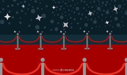 Vetor de tapete vermelho lindo