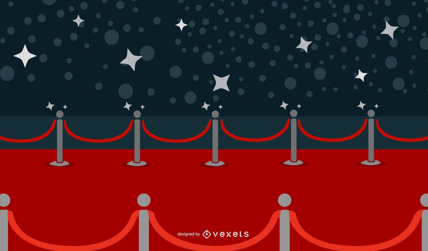 Vector hermoso de la alfombra roja