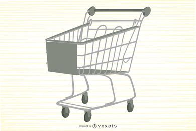 Supermarket Shopping Cart Vector