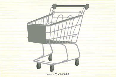 Vector de carrito de compras de supermercado