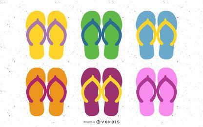 Verano sandalias 02 vector