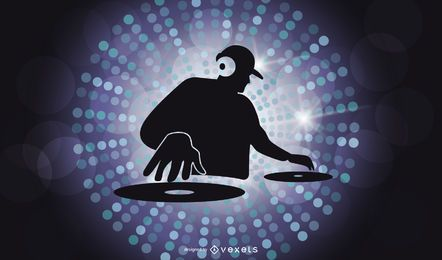 Dj Character Illustrator Vector