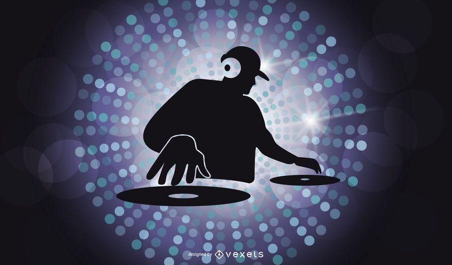 DJ-Zeichen-Illustrator-Vektor