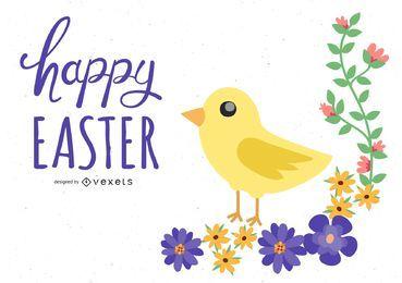 Easter Chicks Vector 3