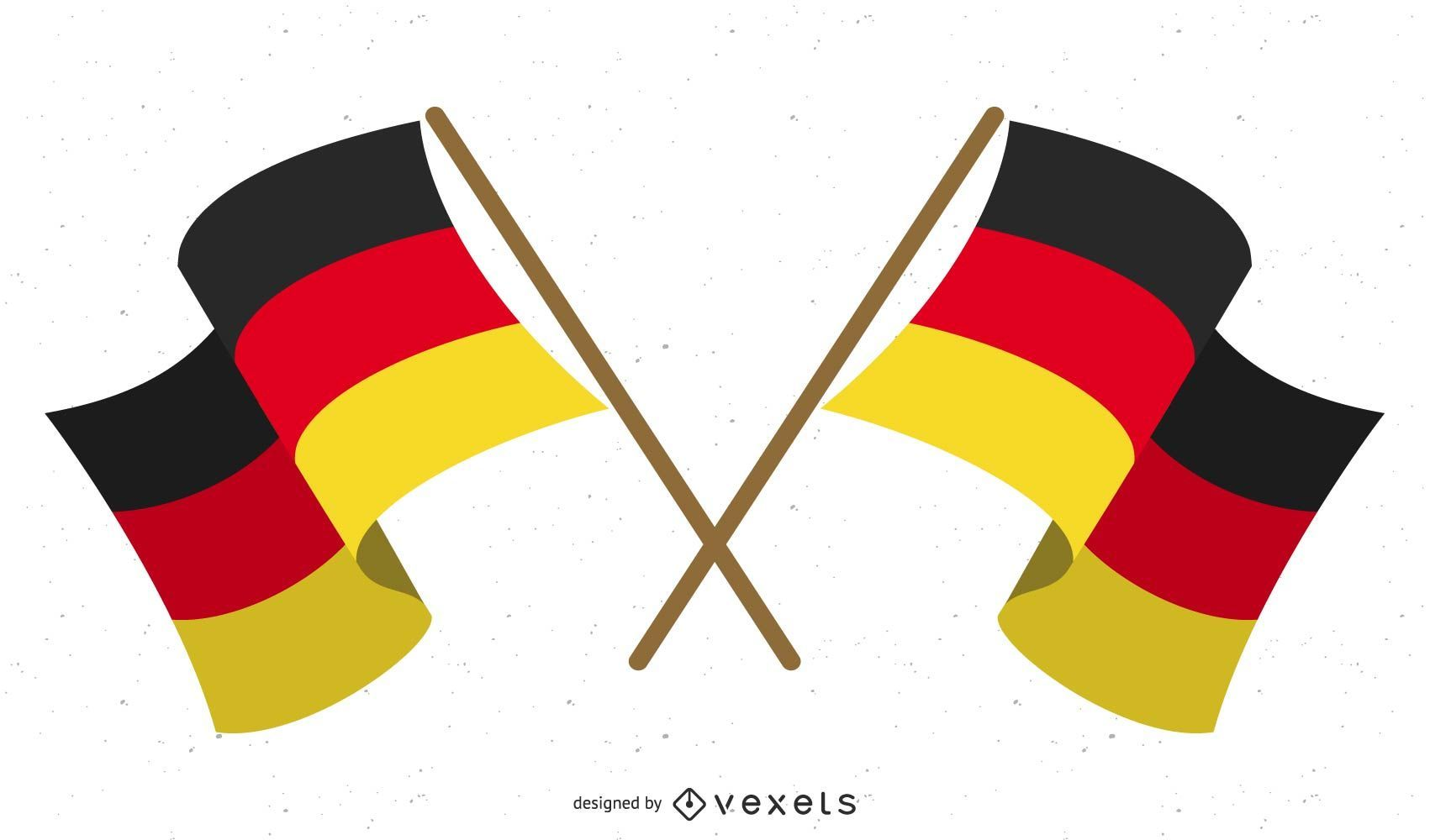 Several National Flags Stickers Vector
