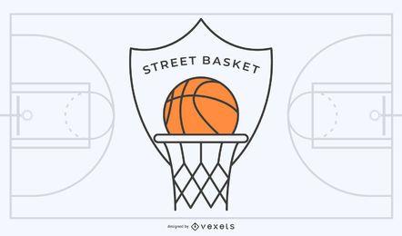Logotipo de basquete de rua