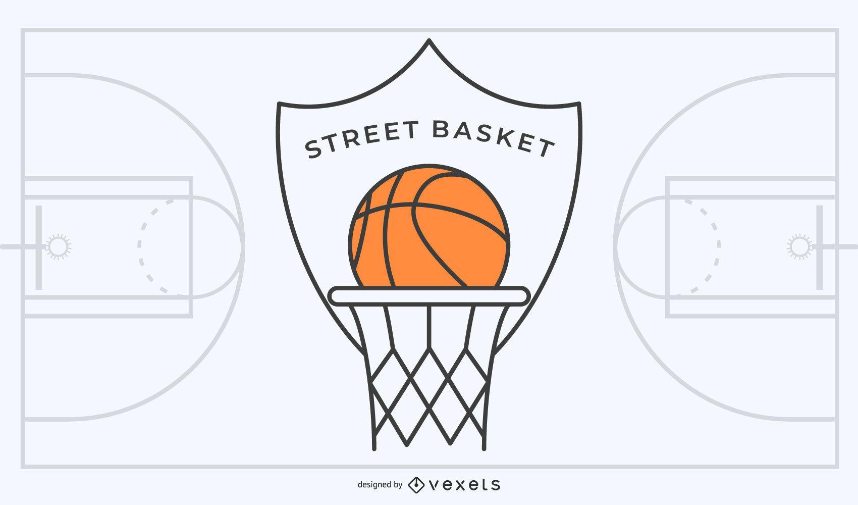 Logotipo de baloncesto callejero