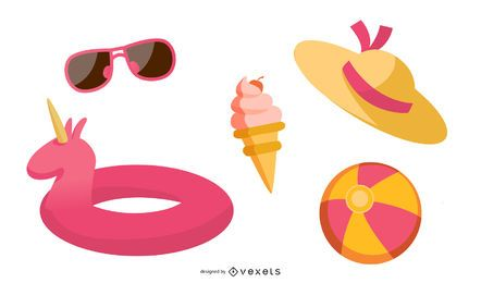 Summer Beach Element Vector