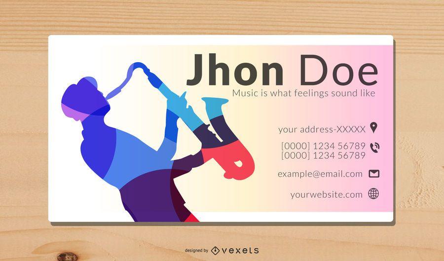 Vector de tarjeta de tema musical simple