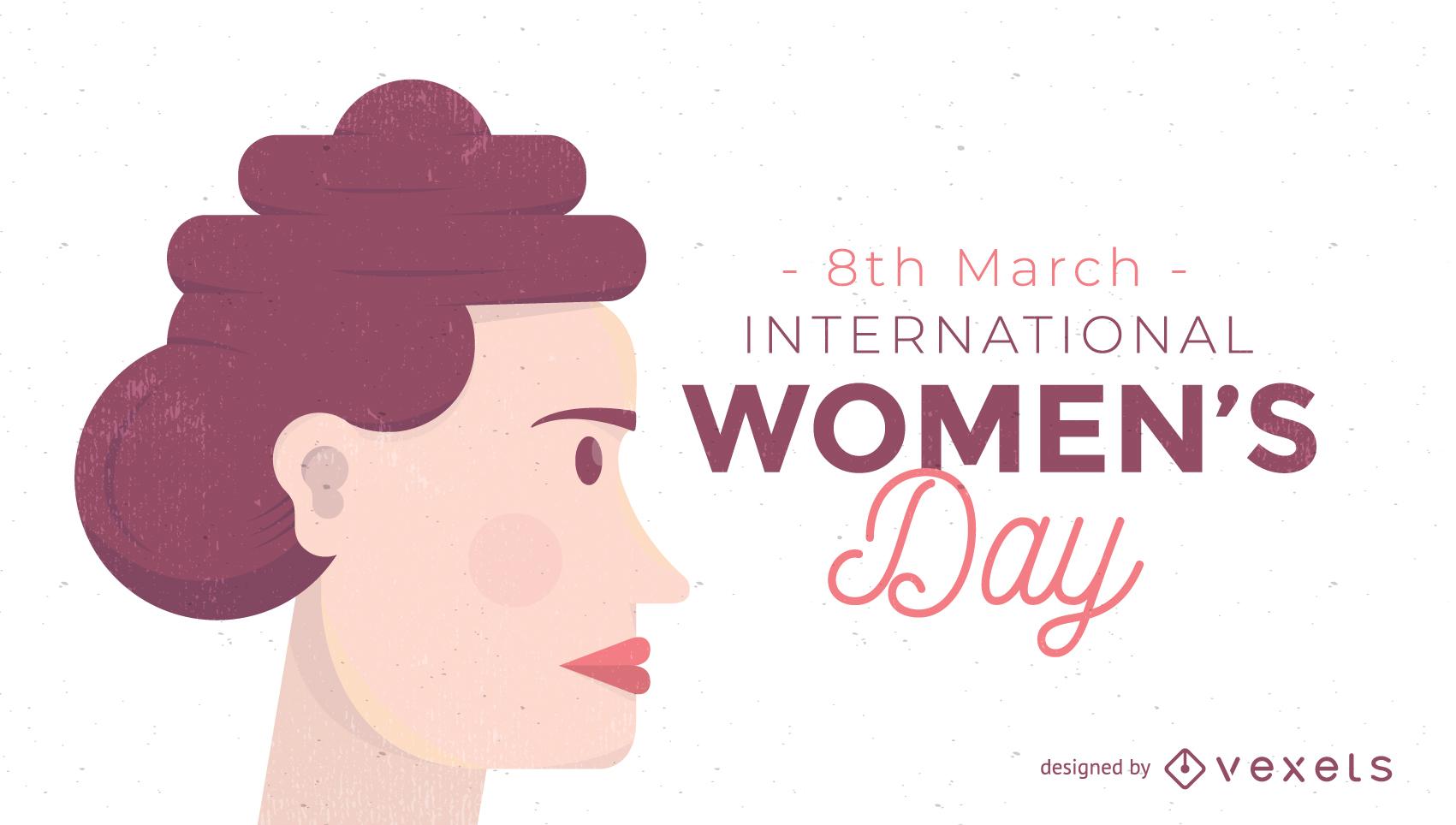 8 March International Womenfs Day Vector Illustration