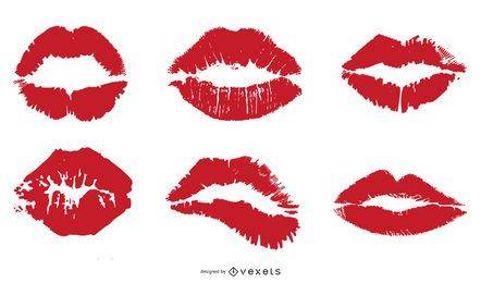 Vector Lip Prints
