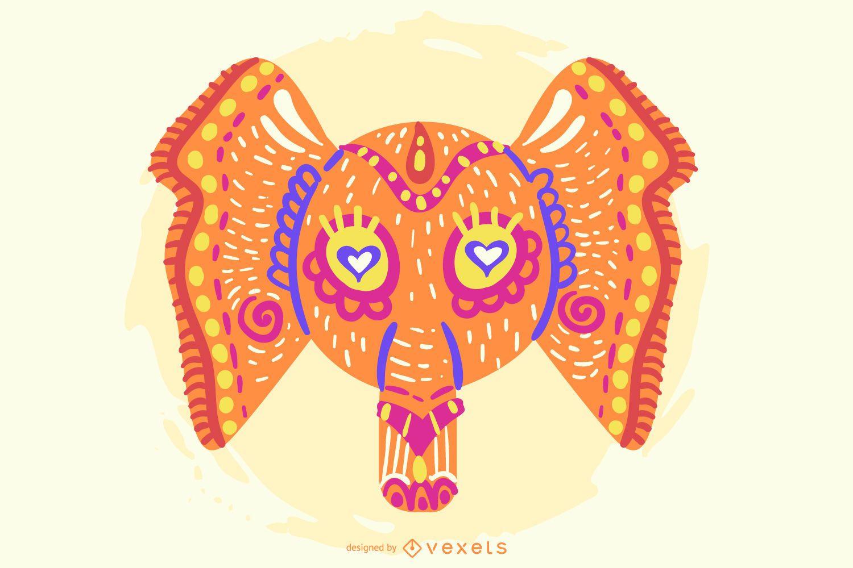 Vector libre elefante colorido