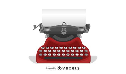 Máquina de escrever de vetor