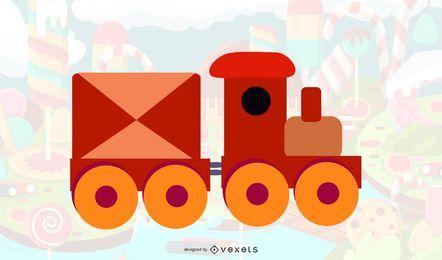 Vector libre Choo Choo tren
