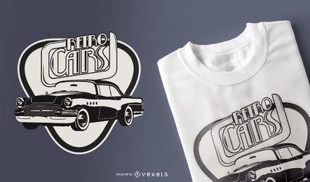 Diseño de camiseta de coche de época