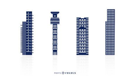 Tall Buildings Vector Set