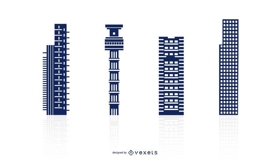 Tall Buildings Vector Set