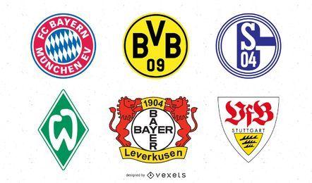 Pacote de logotipo da seleção alemã de futebol