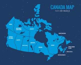Mapa do vetor do dia azul do Canadá