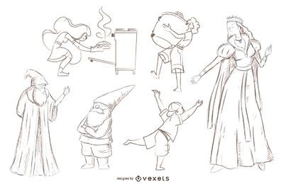 Crazy Doodle Characters