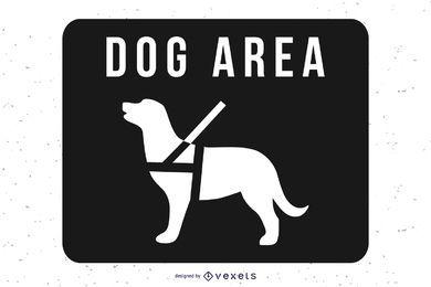 Vetor de placa de sinal de área de cão