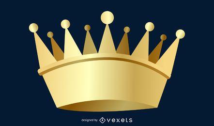 Coroa de rei e rainha de vetor 3D Coroa de coroa de vetor de Ai Photoshop Design Ai