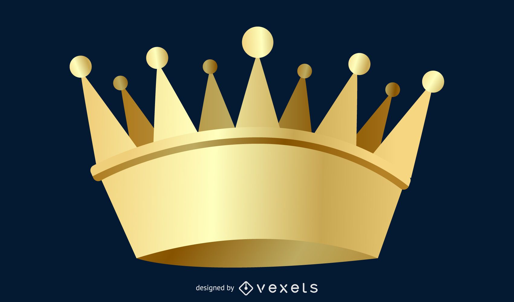 3d King And Queen Crown Vector Crown Ai Vector Photoshop Crown Design Illustrator Ai