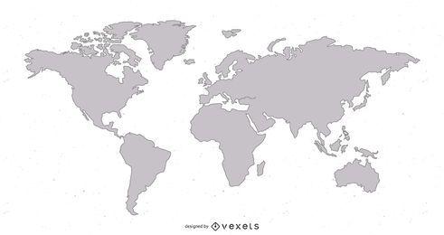 Modelo de ilustração de mapa do mundo