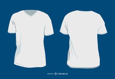Plantilla de camiseta y modelos