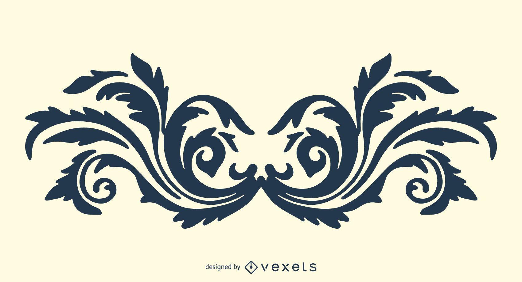 Ornamento decorativo del vector 2