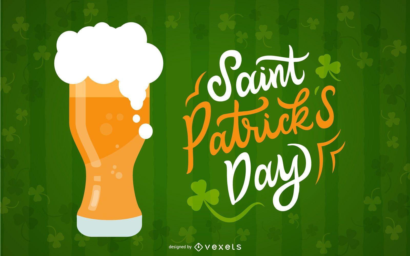 St Patrick's Day beer illustration