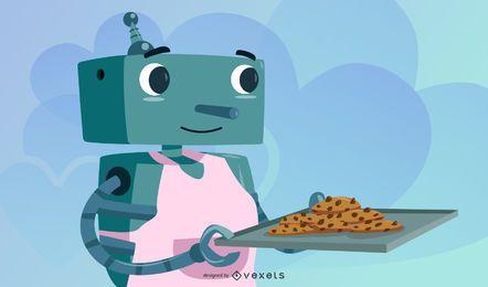 Material de vetor de robô