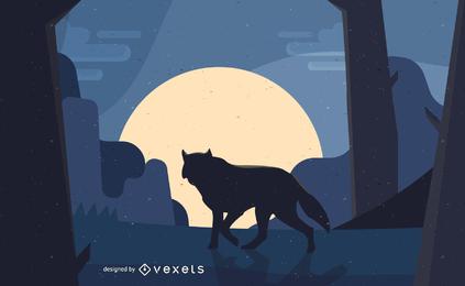 Wolf Vektor Material
