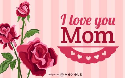 Feliz día de la madre ilustración vectorial