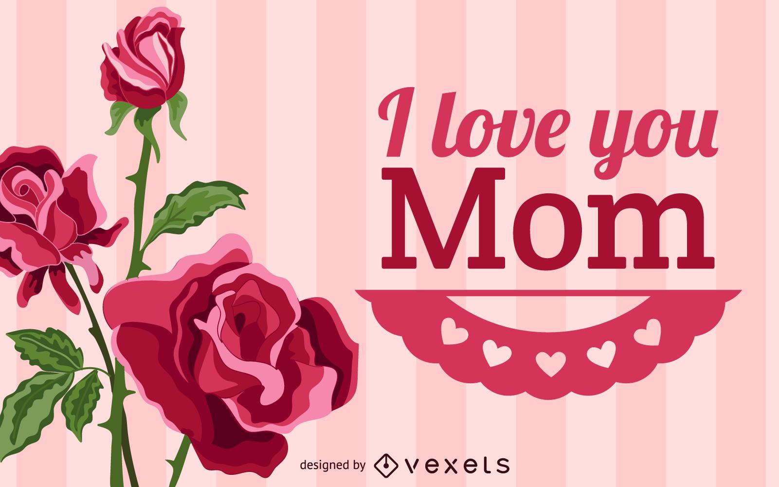 Ilustración de vector de feliz día de la madre