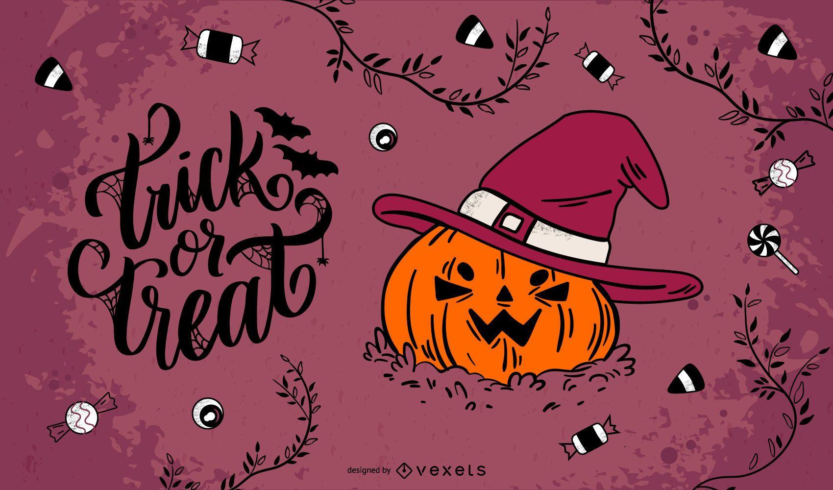Feliz Halloween gráfico vectorial