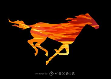 Ilustración del caballo