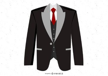 Black suit illustration design