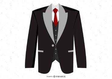 Vector de traje negro