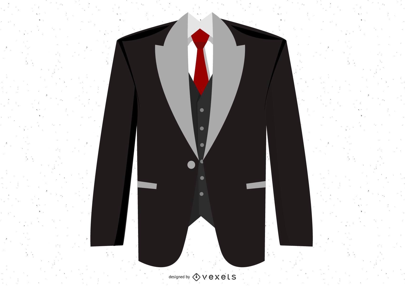 Black suit illustration design