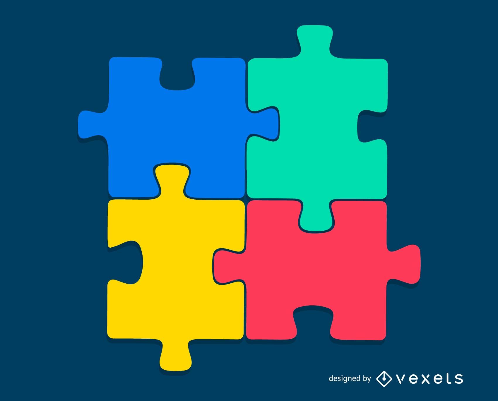 Puzzle-Vektor